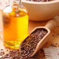 Зерна льна и масло