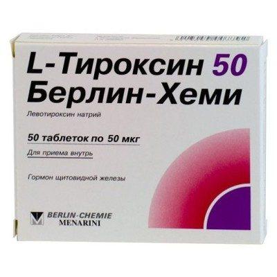 L-Тироксин 50 Берлин-Хеми: показания к применению, свойства, отзывы